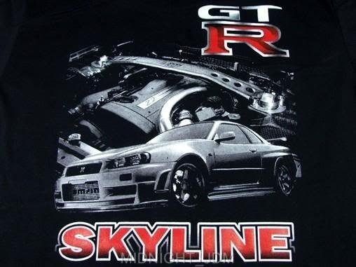 Skyline GT-R GTR R34 RB26DET V-spec JDM Nismo Impul T-Shirt Black M, L, XL, XXL