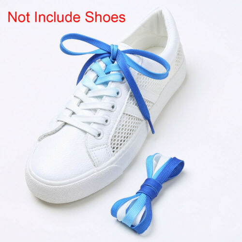 Boots Gradient Print Women Men Canvas Gradient Print Shoelaces Chromatic Colour