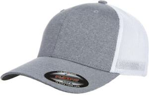 6311 Flexfit Custom Hat Melange Mesh Lids Trucker Cap Mid Profile ... 4f117400ce7