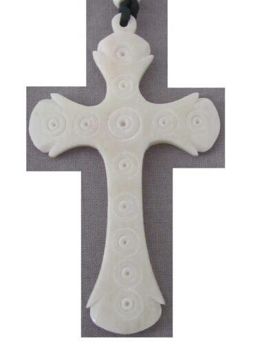 Wikinger Anhänger Kreuz aus Büffel Knochen