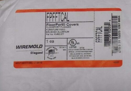 9 AVAIL NIB WIREMOLD FPFFTCAL FLOORPORT FLANGED COVER FURNITURE FEED ALUMINUM