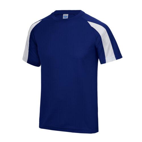 AWDIS Enfants T-shirt sport wicking Summer Garçons Filles UPF Protection Soleil Contraste