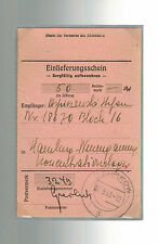 1943 Ozorkow Germany Neuengamme Concentration Camp money order Receipt KZ