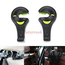 2Pcs Car Seat Back Headrest Bag Hanger Hook Fastener Clip Auto Purse Holder