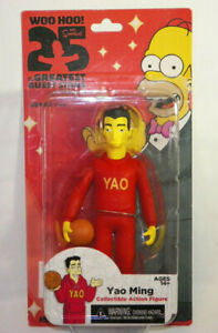 "NECA The Simpsons 25 Years Season 16 YAO MING 5"" Action Figure"