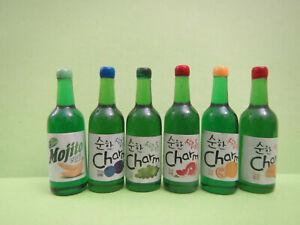 5 PCS SOFT DRINK SODA BOTTLE 1//6 SCALE DOLLHOUSE BARBIE MINIATURE FOOD RE-MENT