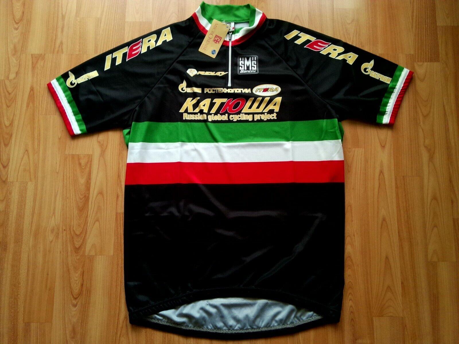Filippo Pozzato Katusha ITALIANO CHAMPION CHAMPION CHAMPION Ciclismo Jersey 2009 specialee edizione 3XL b52
