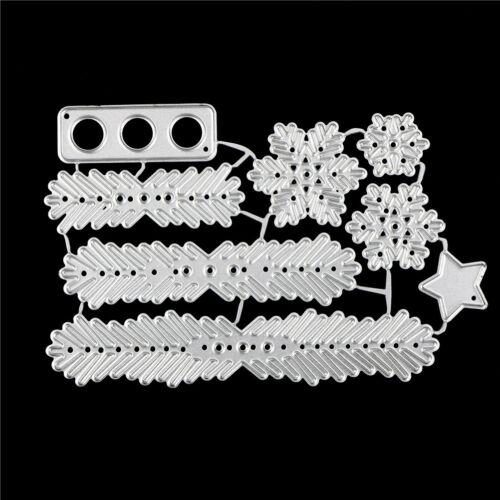 Metal Christmas Tree Wreath Cutting Dies Stencil Scrapbook DIY Paper CraftMRASK