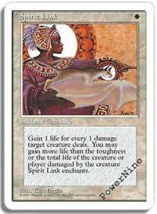 4 PLAYED Spirit Link - White Fourth 4th Edition Mtg Magic Uncommon 4x x4