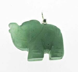 Plateado-y-verde-aventurina-elefante-colgante