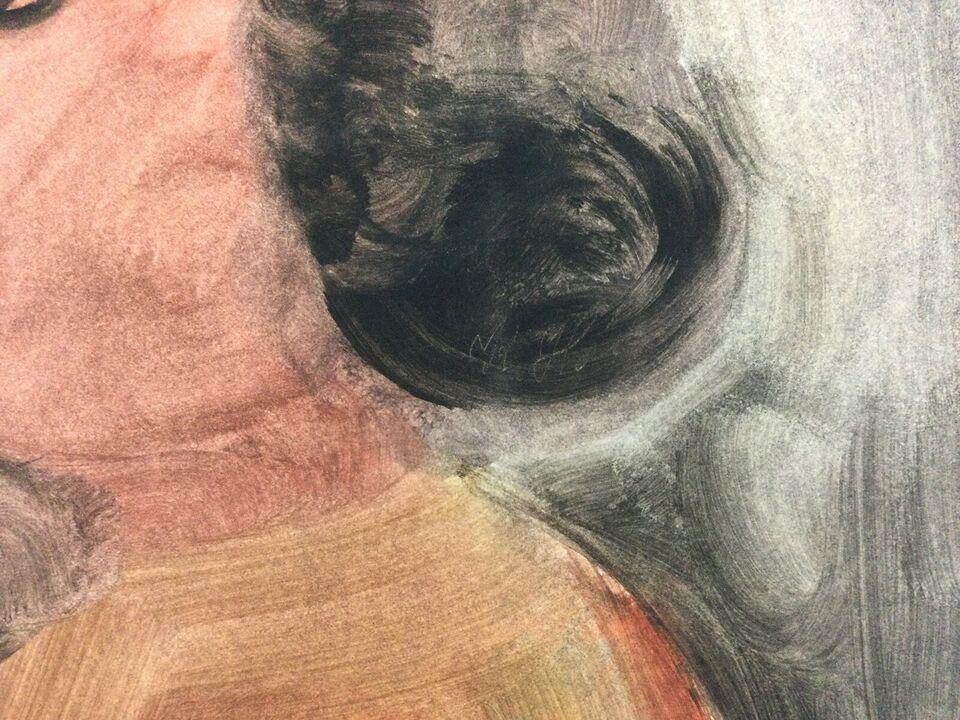 Maleri / Akvarel / Komposition, Kristine Høeg , b: 30 h: 41