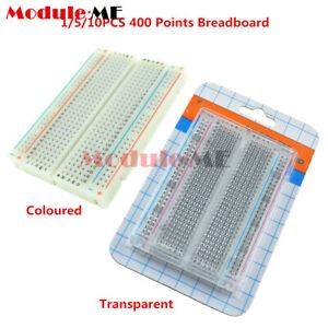 1//5//10PCS Mini Universal Clear Colored Solderless Breadboard 400 Tie-points