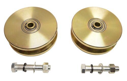 """2pcs-6/"""" V Groove Wheel Double Bearing Sliding Gate 5000 lbs Roller Slide Screw"""