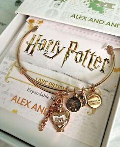 c5289acc90065 Details about Alex and Ani Harry Potter Love Potion Rose Gold Bangle  Bracelet Weasley