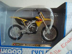 MOTO-MINIATURE-SUZUKI-RM-Z-450-CROSS-1-18-NEUVE-EN-BOITE-B-BURAGO