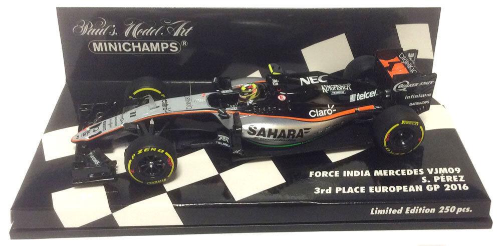 Minichamps Force India VJM09 3rd EUROPEAN GP 2016-Sergio Perez échelle 1/43 | Outlet Store  | Durable En Usage  | La Boutique En Ligne