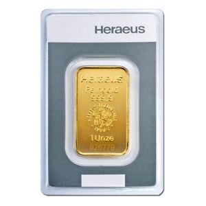 1-oz-Unze-Goldbarren-Kinebar-Heraeus-Gold-999-9-Feingold-Barren-Kinebarren