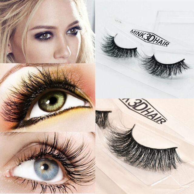 Lady Soft Design 3D 100% Real Mink False Eyelashes Cross Messy Eye Lashes Beauty