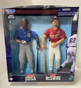 "SAMMY SOSA MARK MCGWIRE MLB Starting Lineup SLU 1999 12"" Fully Poseable Figures"