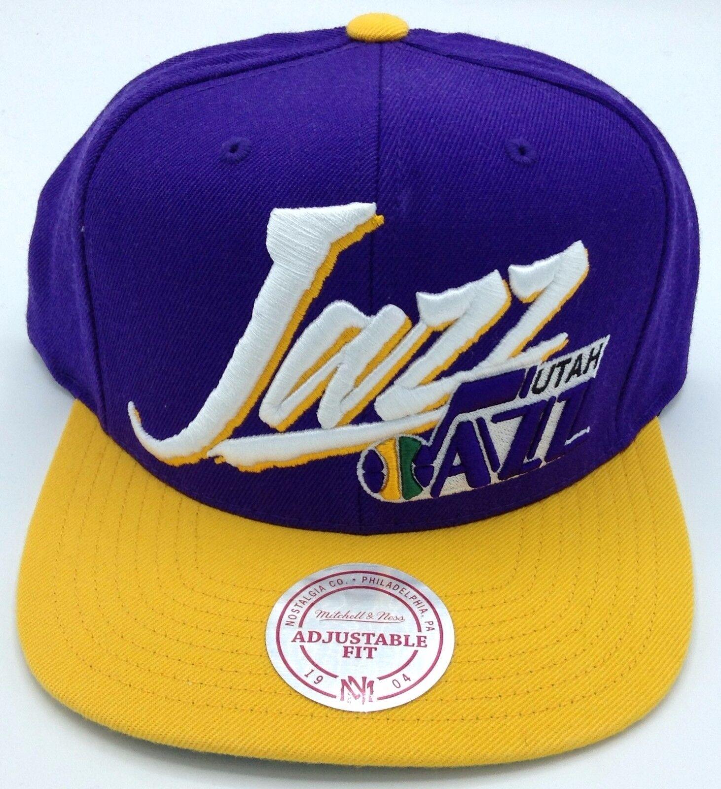 NBA Utah Jazz Mitchell & Ness Retro Erwachsene Einstellbare Einstellbare Einstellbare M&N Neu 38390b