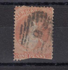 New-Zealand-QV-1864-1d-Chalon-Vermillion-SG110-Used-J6180