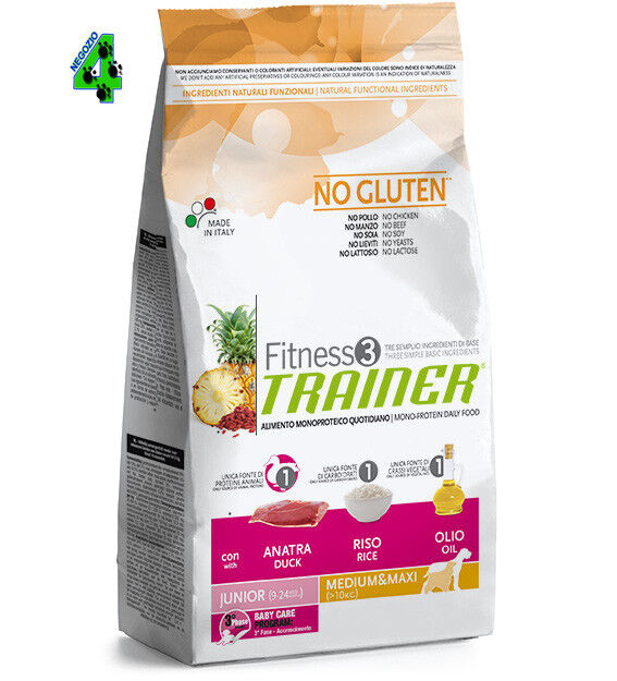 2 SAC   Trainer Fitness 3 Junior Medium Maxi  Anatra, Riso e Olio KG 12.5
