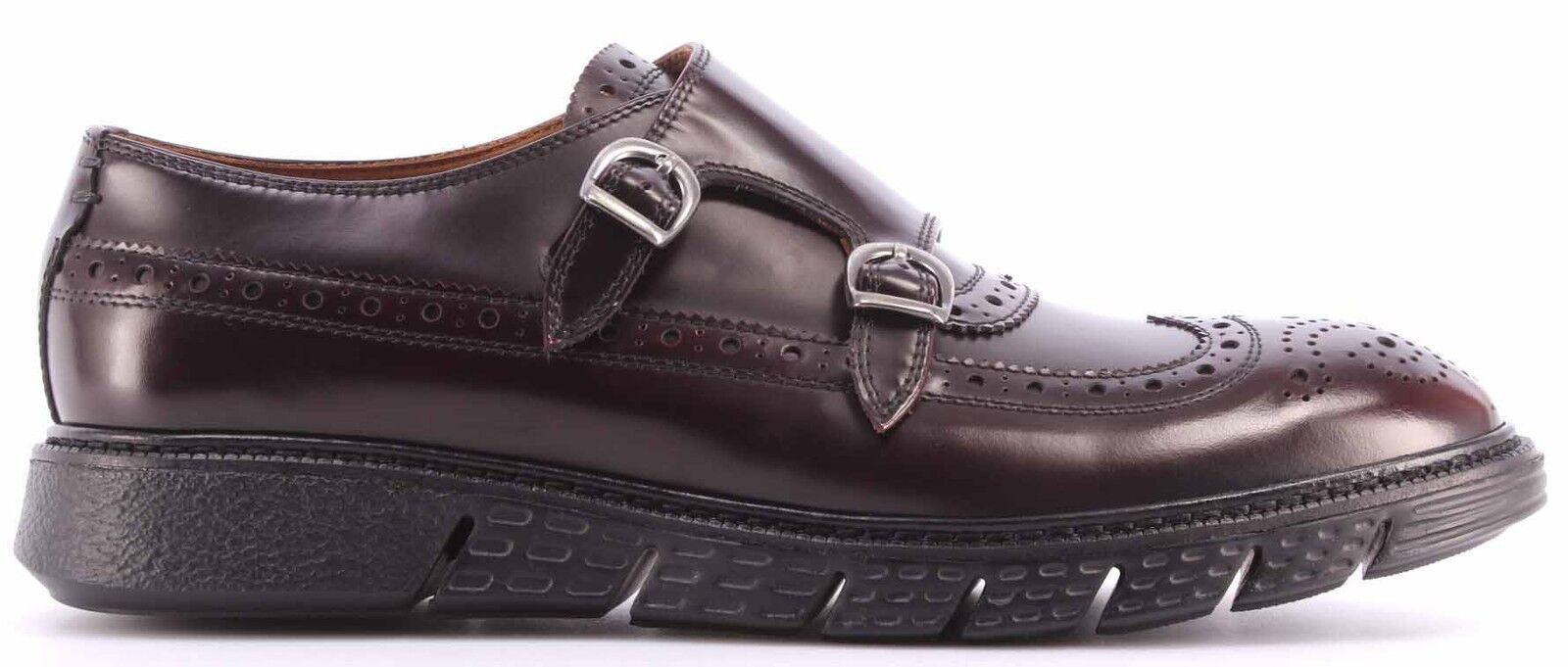 Herren klassisch Schuhe BARRACUDA BU2882A Abrasivato Bordo Bordeaux Bordeaux Bordeaux Schnallen a9ec7f