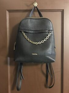 Calvin-Klein-Leather-Pebble-Backpack-Purse-Fixable