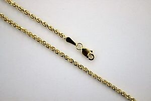 1a5707b27e36e Details about Authentic 14K Solid Yellow Gold Rope Twist Link Chain  Necklace 1.5mm x 16