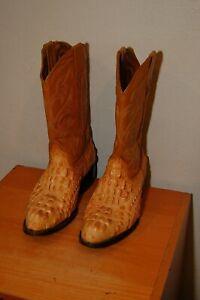 6 Potros Gaucho Cowboy Gator Alligator Skin Leather Boots Snake Reptile 7.5