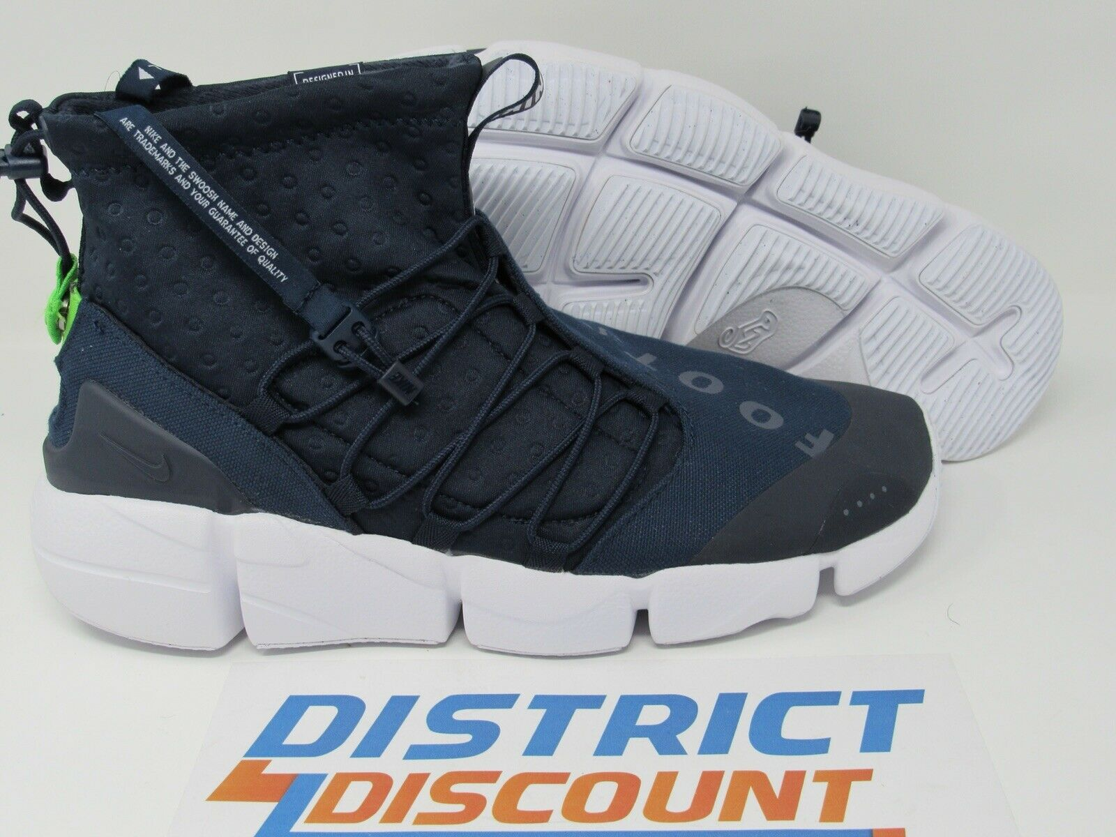 Nike Air Footscape Mid Utility Tokyo Obsidian blueee NSW 924455-400 Men Size 9.5