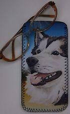 ALASKAN MALAMUTE DOG NEOPRENE GLASS CASE POUCH PRINT SANDRA COEN ARTIST