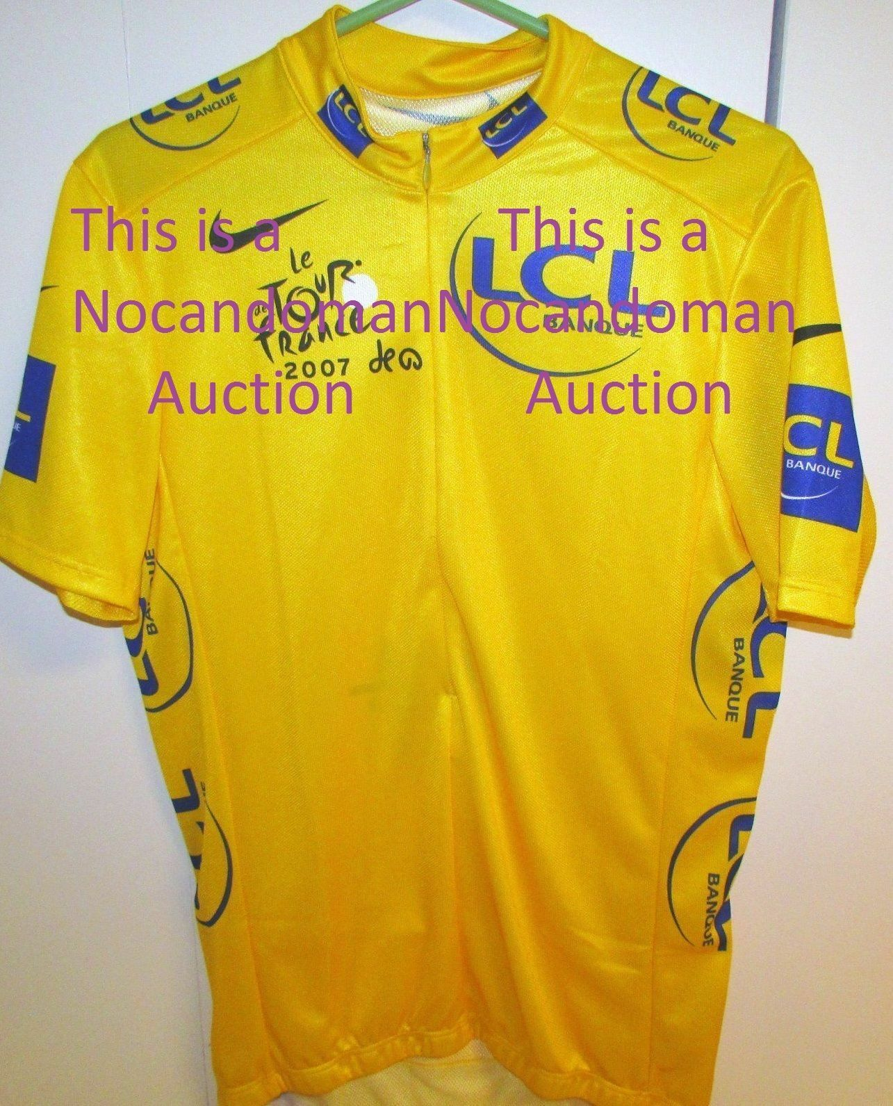LE NW  RARE XL NIKE 2007 TOUR DE FRANCE YELLOW LEADER JERSEY MADE IN ITALY NO COQ  fashion brands