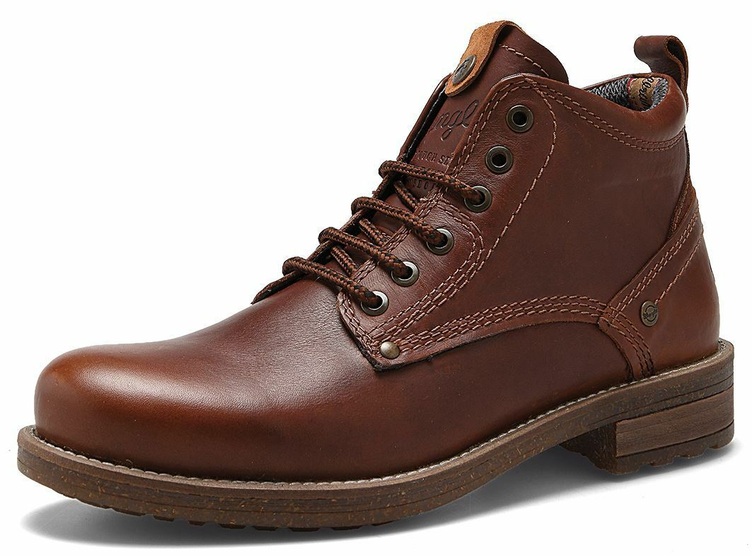 Wrangler Hill Bottines à Lacets en Cuir Brier