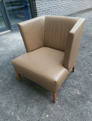 Chairs - Quality Stylish Extra Comfy Soft Brown Leather Chairs. Approximately 50