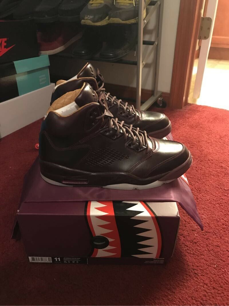 Nike Air Jordan 5 V Retro Premium SZ 11 Bordeaux