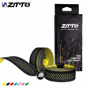 Road-Bike-Bicycle-Handlebar-Cork-EVA-PU-Bar-Tape-Cycling-Damping-Anti-Vibration