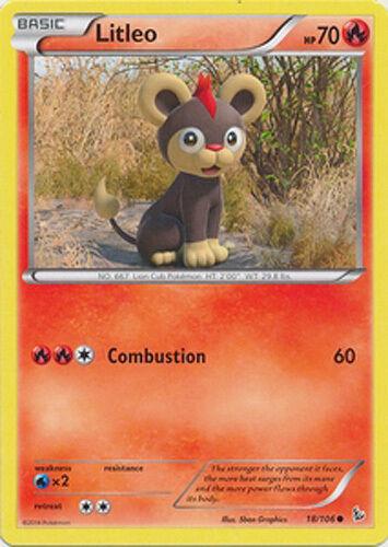4x Pokemon XY Flashfire Litleo 18//106 Common Card