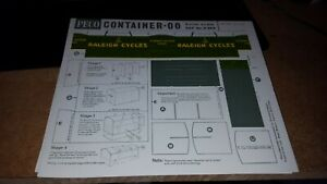 OO-HO-4mm-SCALE-PECO-R-66R-CONTAINER-Wagon-load-KIT-BR-Raleigh-Cycles-unused