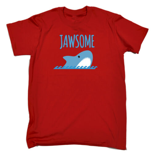 JAWSOME T-SHIRT cute animal shark joke funny birthday gift 123t