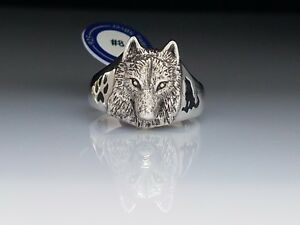 Ted-Andrews-artistic-design-Wolf-paw-amp-Howl-Sterling-Silver-Ring-by-Peter-Stone
