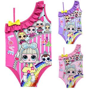 ba551b002b621 Image is loading Lol-Surprise-Dolls-Kids-Girls-Swimwear-Swimming-Costume-