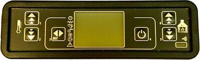 DISPLAY LCD MICRONOVA PER STUFA A PELLET LCD A 6 TASTI TERMOSTUFE 16,3 x 4,5 cm