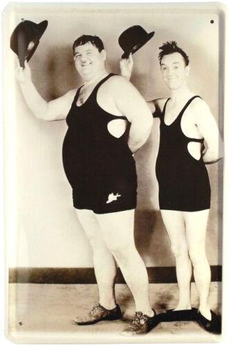 Blechschild 20x30 Dick Doof Laurel /& Hardy Kult Komiker Filmszene Kino Plakat