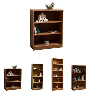 Cambridge Bookcase Display Shelving Storage Unit Stand Wooden Shelves Oak