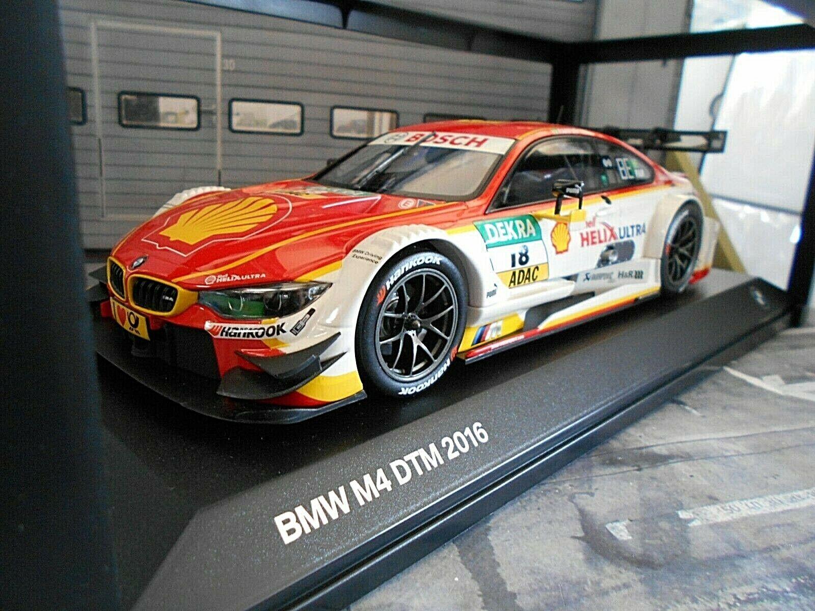 BMW M4 F82 Coupe DTM 2016  18 MTEK Farfus Shell Helix SONDERPREIS Norev 1 18