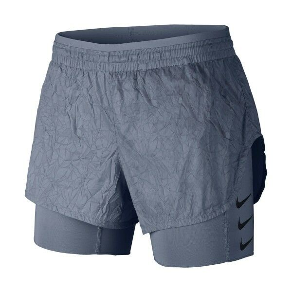 Womens NIKE RUNNING DIVISION Crinkle 2 in 1 Shorts. Size Small.  AJ4197-445