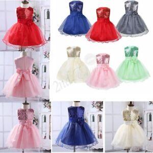 Infant-Baby-Girl-Birthday-Wedding-Flower-Dress-Pageant-Party-Princess-Tutu-Dress