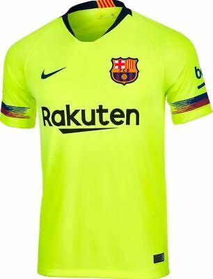 nike fc barcelona away jersey 2018 19 neon yellow ebay nike fc barcelona away jersey 2018 19 neon yellow ebay