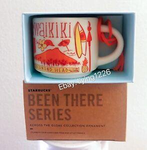 Starbucks Hawaii Waikiki Ornament Been There Series Demitasse Mini Mug Box NEW